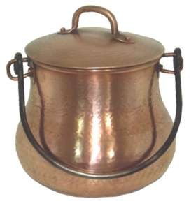 Copper kettles with lid