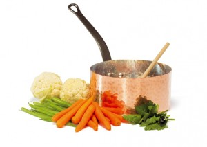 BAUMALU copper sauce pan with vegetable