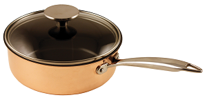 Copper Saute pan Céracuivre mit glass lid