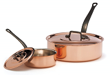 Copper Sauteuse with lid